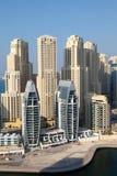 Dubaj Marina budynki zdjęcia royalty free