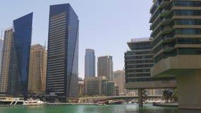 Dubaj marina dnia światła intymnego mieszkania zatoki widok 4k uae zbiory