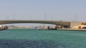 Dubaj marina dnia światła zatoki mosta panorama 4k uae zbiory wideo