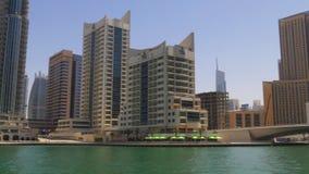 Dubaj marina dnia czasu zatoki panorama 4k uae zbiory wideo