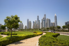 Dubaj Marina linia horyzontu Zdjęcie Stock