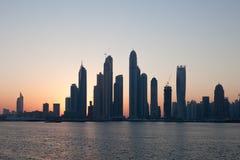 Dubaj Marina linia horyzontu Zdjęcia Stock