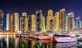 Dubaj marina linia horyzontu, Dubaj, Zjednoczone Emiraty Arabskie Zdjęcie Royalty Free