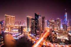 Dubaj marina linia horyzontu, Dubaj, Zjednoczone Emiraty Arabskie Zdjęcia Stock