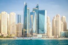 Dubaj Marina w letnim dniu, Zjednoczone Emiraty Arabskie, 26 04 18 Fotografia Royalty Free