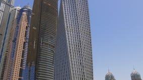 Dubaj marina zatoki sławni budynki 4k uae zdjęcie wideo