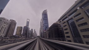 Dubaj metra przejażdżka zdjęcie wideo