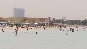 Dubaj miasta dnia światła plaży życia denny czas 4k uae zbiory wideo