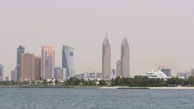 Dubaj miasta dnia światła tecom góruje panoramę 4k uae zdjęcie wideo