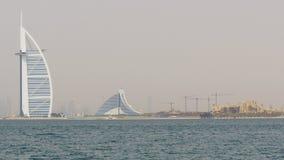 Dubaj miasta hotelu sławnej plaży widoku budowy palmowa panorama 4k uae zdjęcie wideo