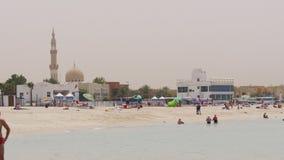 Dubaj miasta lata czasu plaży życie 4k uae zbiory wideo