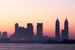 Dubaj miasta Medialna linia horyzontu Obraz Royalty Free