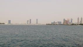 Dubaj miasta mola plaży zatoki palmowa panorama 4k uae zdjęcie wideo