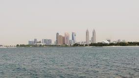 Dubaj miasta palmowy widok na tecom budynku sławny wierza 4k uae zbiory wideo