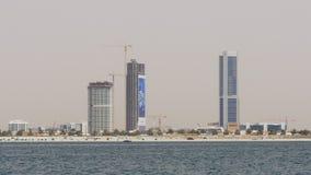 Dubaj miasta plaży zatoki budynku hotelowa budowa 4k uae zdjęcie wideo