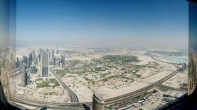 Dubaj od wierzchołka Fotografia Royalty Free