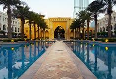 Dubaj pałac śródmieście obrazy stock
