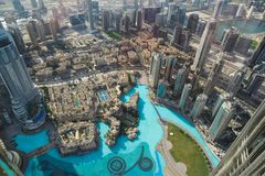 Dubaj panorama obraz royalty free