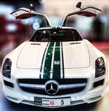 Dubaj polici Mercedez Benz SLS 63 Obrazy Royalty Free