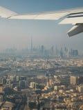 Dubaj powietrzem Zdjęcia Royalty Free