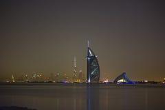 Dubaj przy noc Fotografia Stock