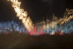 Dubaj przy noc ruchem drogowym Zdjęcia Royalty Free