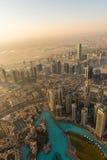 Dubaj ranku w centrum scena Zdjęcie Stock