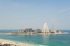 Dubaj, Styczeń - 20: Budowa Dubaj oko world' Zdjęcia Stock
