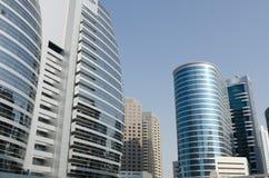 Dubaj tecom szklani budynki, zlani arabscy emiraty Obrazy Royalty Free