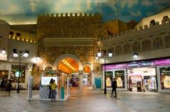 Dubaj, UAE, Battuta zakupy centrum handlowe, Listopad 2015 Zdjęcie Royalty Free