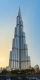 DUBAJ, UAE: Burj khalifa, śródmieście na Wrześniu 29, 2014 Obraz Stock