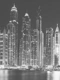 Dubaj, UAE Czarny I Biały serie Obraz Stock