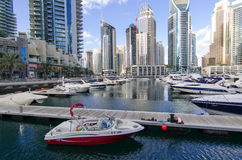 Dubaj, UAE, Dubaj Marina deptak, Listopad 2015 Obraz Royalty Free