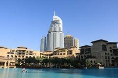 DUBAJ, UAE - Styczeń 25, 2019: Adresu hotel, Pięć Gwiazdowy hotel W Emaar okręgu W centrum Dubaj, Zjednoczone Emiraty Arabskie zdjęcie stock