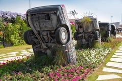 DUBAJ, UAE - STYCZEŃ 20: Cudu ogród w Dubaj, na Styczniu 20, fotografia royalty free