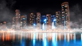 Dubaj w centrum noc scena Obraz Royalty Free