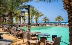 Dubaj W lecie 2016 Wodna oaza Rixos Baba Al Bahr hotel na Perskiej zatoce, Rasa Al Khaimah zdjęcia stock