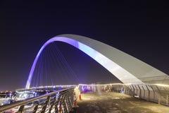 Dubaj wody kanału most Fotografia Royalty Free