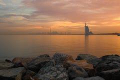 Dubaj wschód słońca obrazy stock