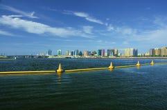 Dubaj zatoczka i Maktoum most Zdjęcie Stock
