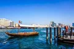 Dubaj zatoczki łodzi widok obrazy royalty free