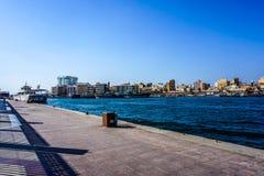 Dubaj zatoczki deptak zdjęcie royalty free