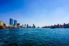 Dubaj zatoczki pejzaż miejski zdjęcie royalty free