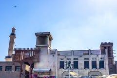 Dubaj zatoczki Souq widok obraz royalty free