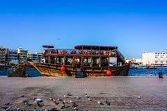Dubaj zatoczki statku widok fotografia stock