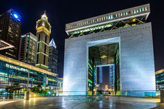 Dubaj zawody międzynarodowi centrum finansowe Zdjęcia Stock