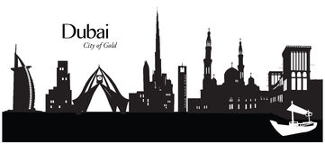 Dubaj, Zjednoczone Emiraty Arabskie Royalty Ilustracja