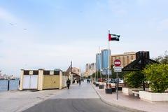 DUBAJ ZJEDNOCZONE EMIRATY ARABSKIE, STYCZEŃ, - 30, 2018: Dubaj zatoczki ziemia Fotografia Stock