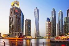 Dubaj, Zjednoczone Emiraty Arabskie, wieczór na nabrzeżu zdjęcia royalty free