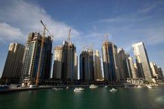Dubaju na nabrzeże budowy obrazy royalty free
